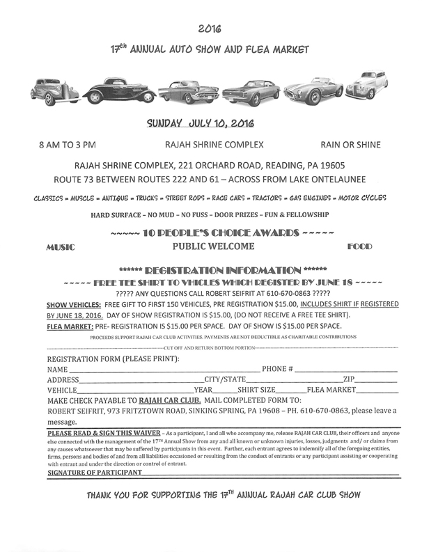 17th Annual Auto Show and Flea Market