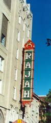 Marquee of Rajah on North 6th St.